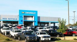 Un concesionario de automoción de Chevrolet (General Motors), en Kentucky. // FOTOGRAFÍA: James R. Martin