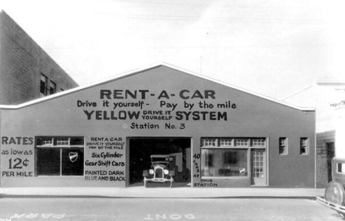 Esta fotografía puede explicarte el origen del alquiler de coches de un punto a otro