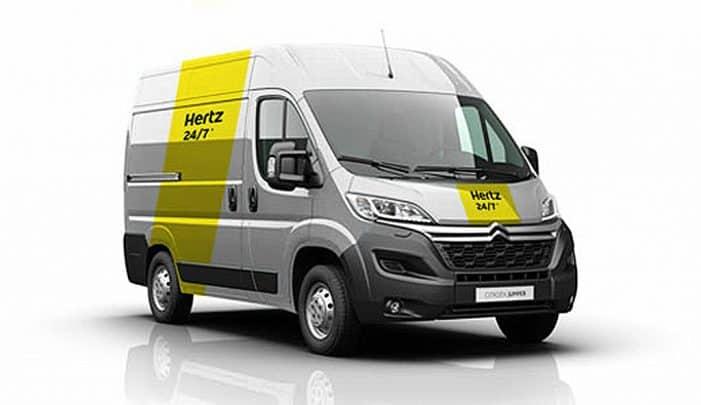 Hertz lanza una app para el servicio de alquiler de furgonetas