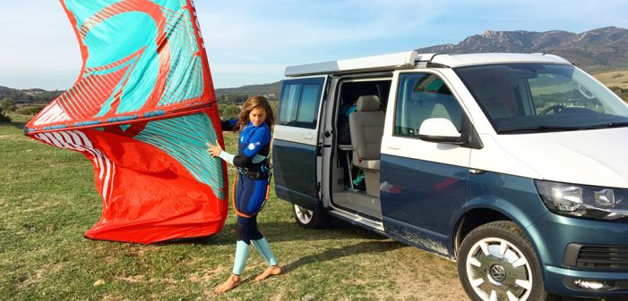 Volkswagen Vehículos Comerciales y la kitesurfista Gisela Pulido, juntos en una nueva aventura
