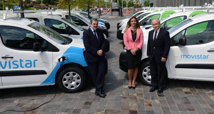 Telefónica incorpora 10 vehículos eléctricos a su flota profesional de Operaciones y Red