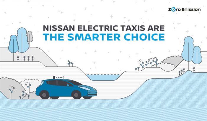 Nissan se impone en la revolución mundial del taxi eléctrico