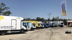 Vehículos industriales de todo tipo y con carrocerías diferentes, de la empresa de renting Fraikin. // FOTOGRAFÍA: M.M.