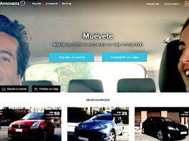 Imagen de la web de Amovens, que acaba de interponer una demanda contra BlaBlaCar por supuesto espionaje.