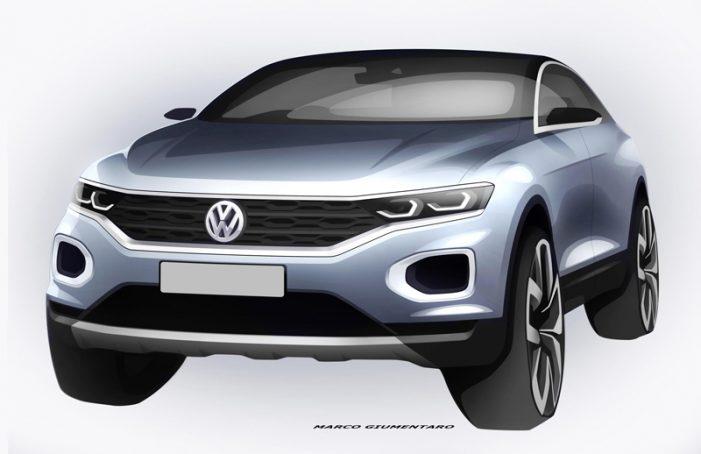 Volkswagen adelanta dos bocetos de su nuevo SUV, el T-ROC, en el mercado a finales de 2017