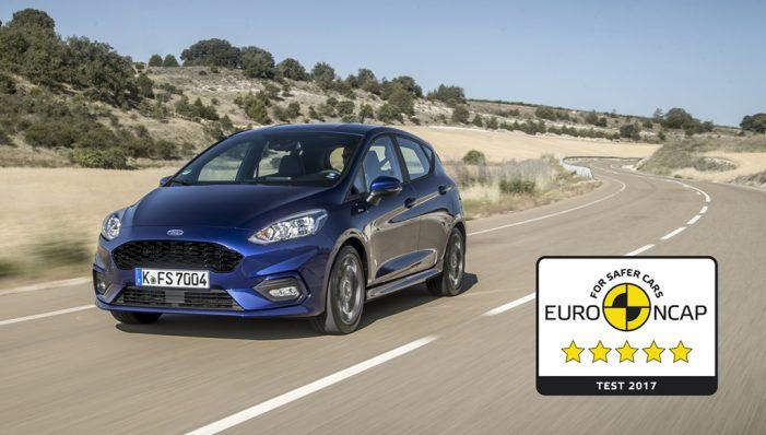 El nuevo Ford Fiesta logra cinco estrellas Euro NCAP