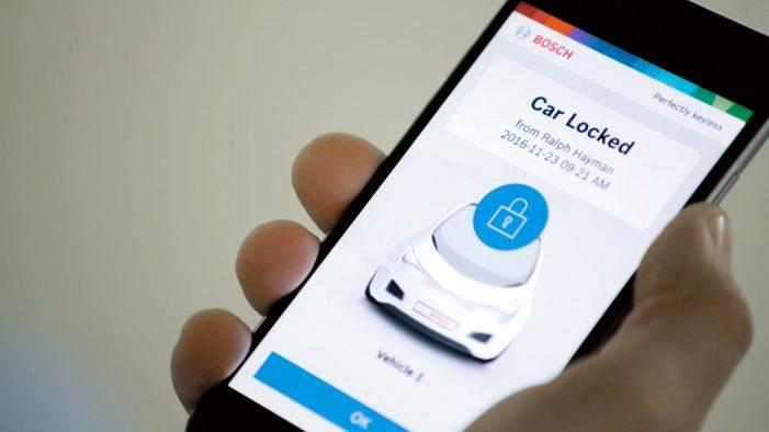 Bosch convierte el smartphone en una llave digital para el coche