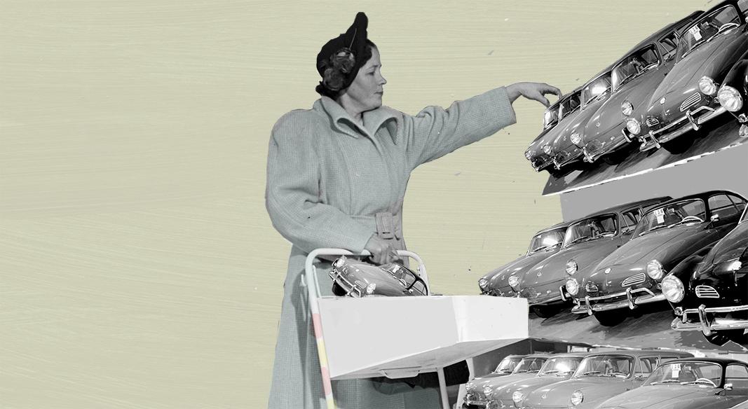 Al coche eléctrico le queda camino en las flotas de empresa. ILUSTRACIÓN: PATRICIA JADRAQUE