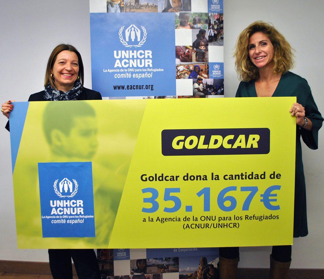 Goldcar dona más de 35.000€ a Acnur para ayudar a los refugiados