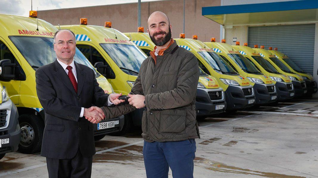 El transporte sanitario de Madrid cuenta con 150 Fiat Ducato