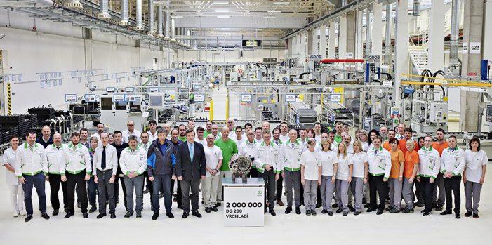 Skoda produce dos millones de transmisiones de doble embrague DQ 200