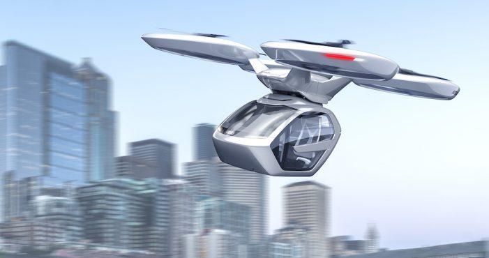 Audi, Italdesign y Airbus combinan la conducción autónoma y un dron de pasajeros