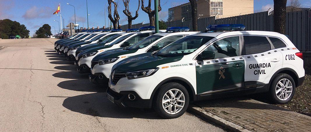 Renault entrega 180 Kadjar a la Guardia Civil