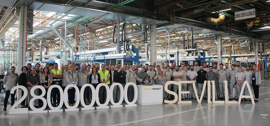 La factoría Renault de Sevilla fabrica su caja de velocidades 28 millones