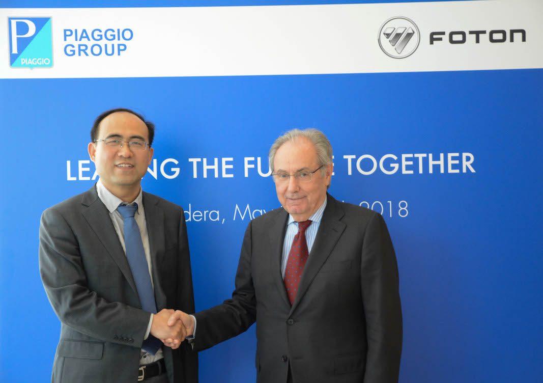 Piaggio y Foton Motor Group firman un acuerdo para desarrollar una nueva gama de vehículos comerciales ligeros