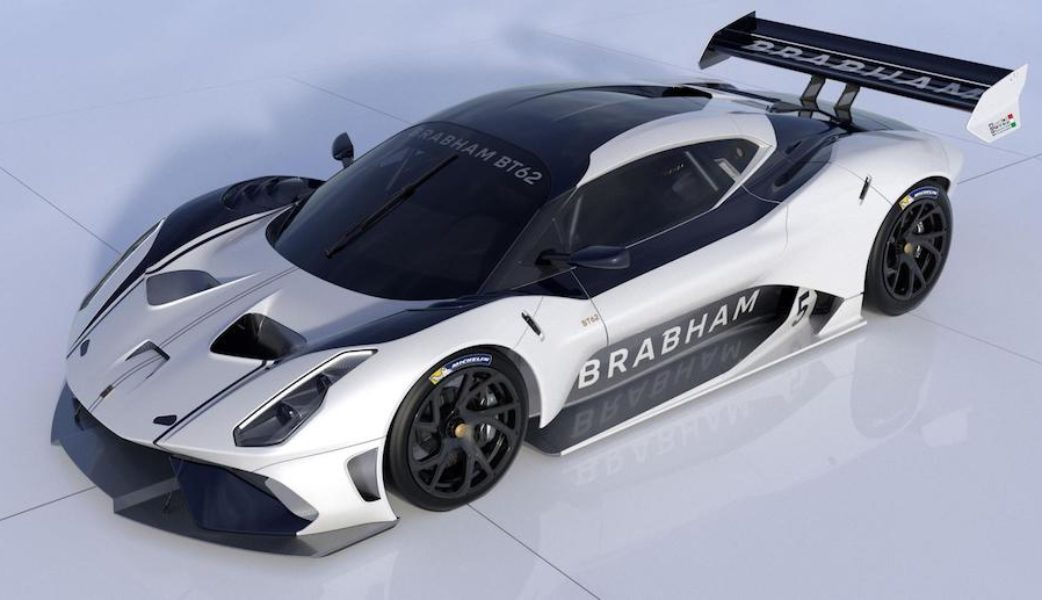 BRABHAM_BT62 Front Qtr View White_Navy