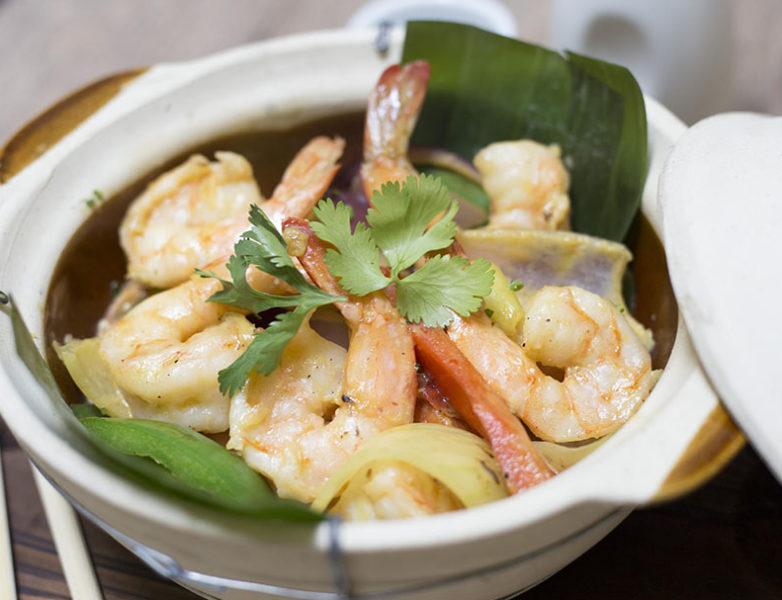 Curry Thai rojo de langostinos tigre, leche de coco y verduritas al fuego de wok II