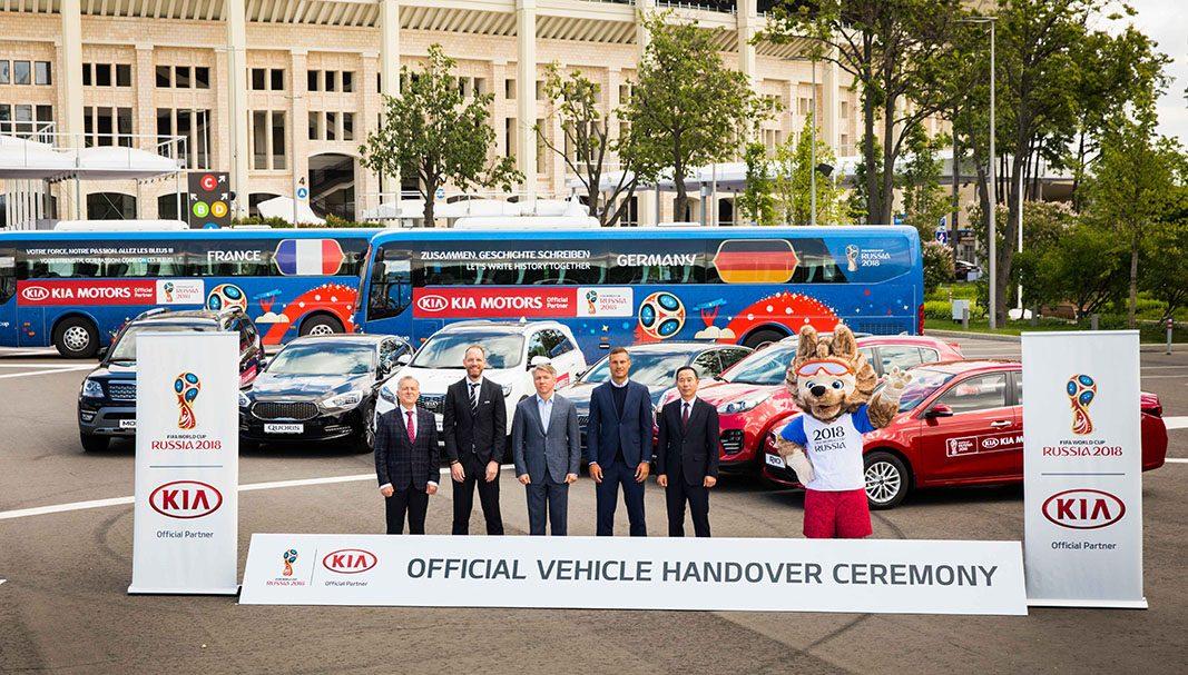 Kia entrega de una flota de vehículos para el Mundial de Rusia