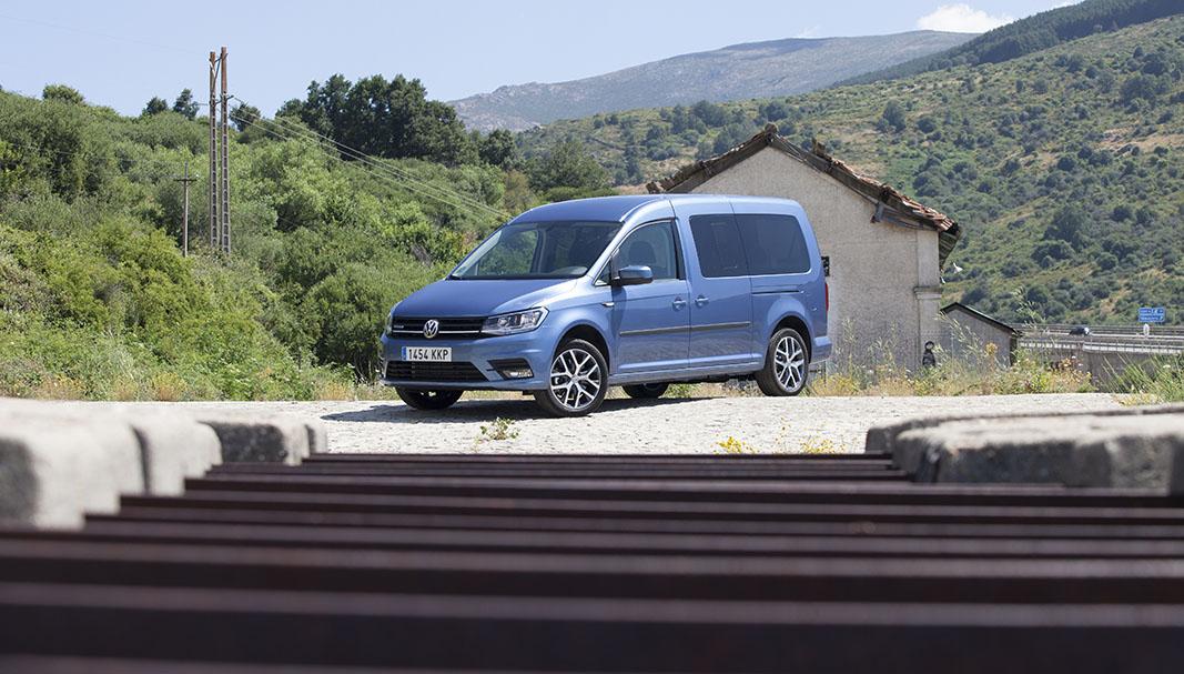 Una Volkswagen Caddy TGI, posando durante una prueba para Fleet People. // FOTOGRAFÍA: FERNANDO ARÚS @FLEET PEOPLE