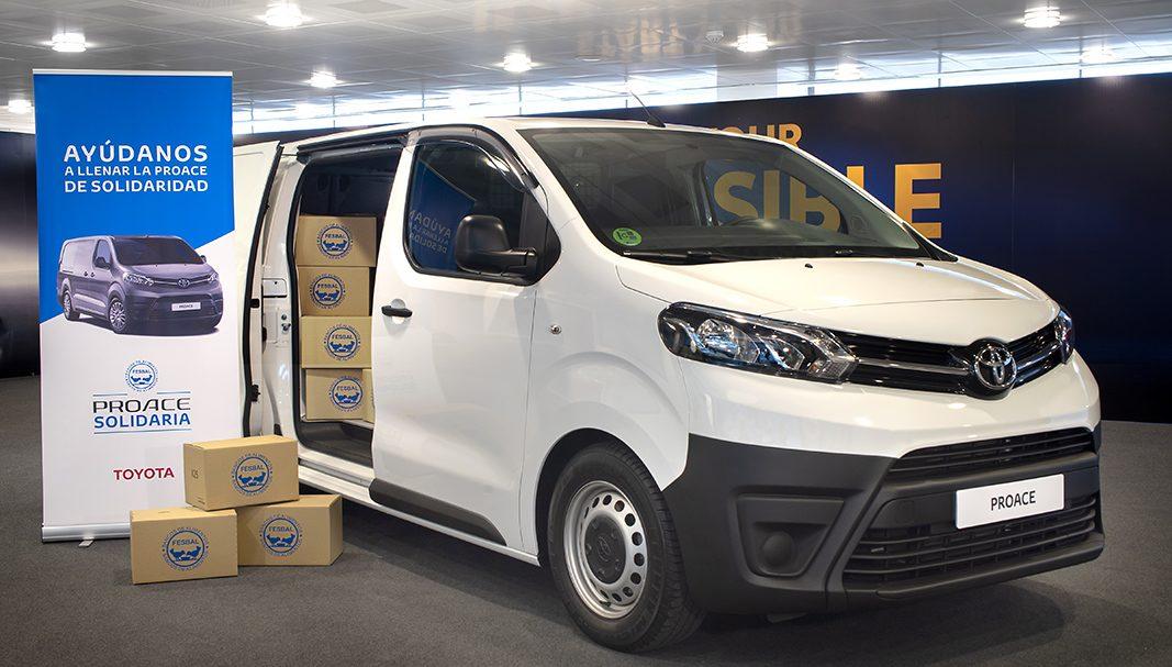Toyota España dona 900 kilos de comida al Banco de Alimentos