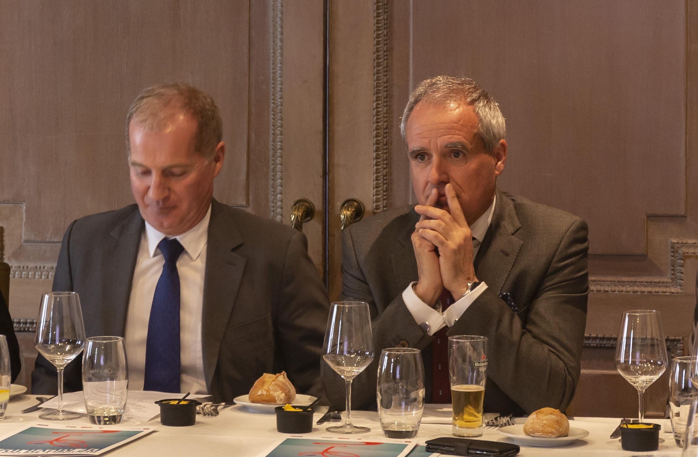Pedro Malla, conejero delegado de ALD, junto con Gilles Bellemère, vicepresidente internacional de ALD, en Madrid.