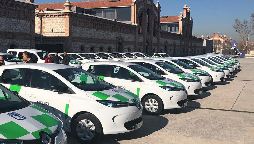 El Ayuntamiento de Madrid renueva su flota con 62 Renault ZOE