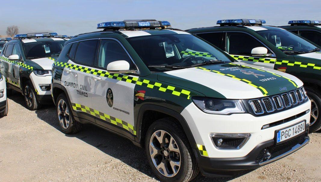 La flota de Tráfico de la Guardia Civil aumenta con 140 Jeep Compass