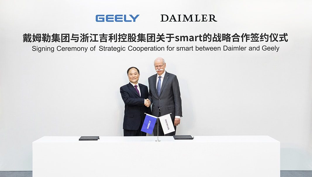 Daimler y Geely Holding se unen para crear una joint venture global