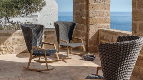La mecedora Knit y el sillón lounge Ribot, los recién llegados de Ethimo