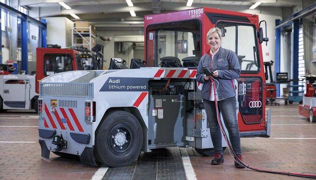 Audi reutilizará baterías de litio recicladas en los vehículos de sus factorías