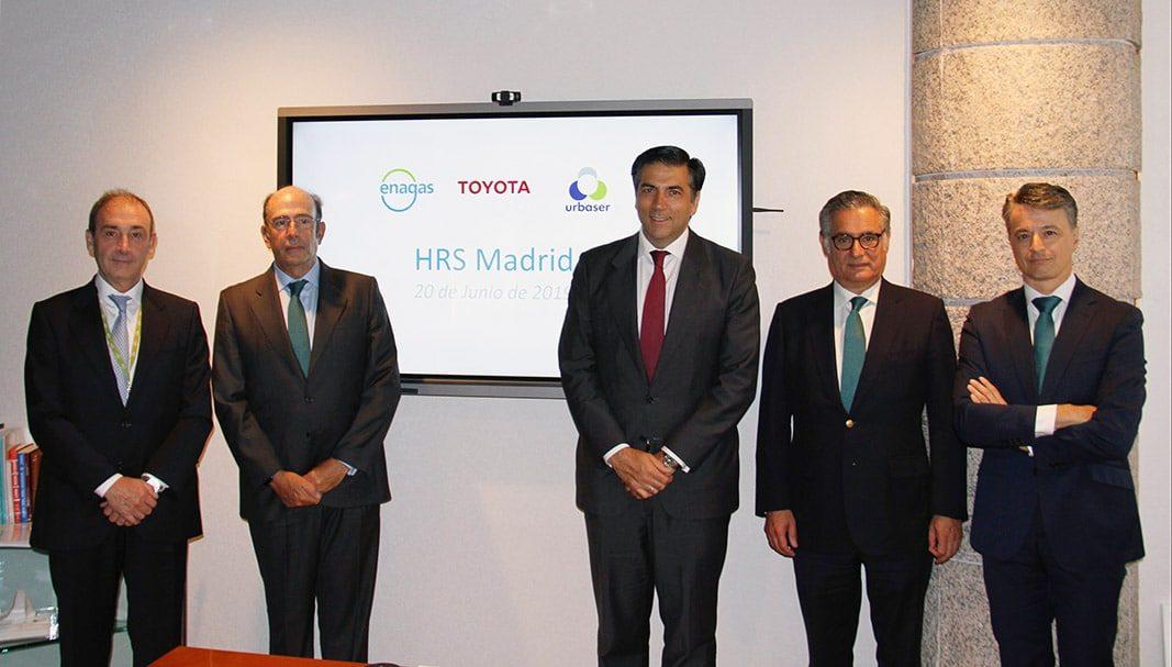 Toyota, Enagás y Urbaser instalarán la primera estación de hidrógeno en España