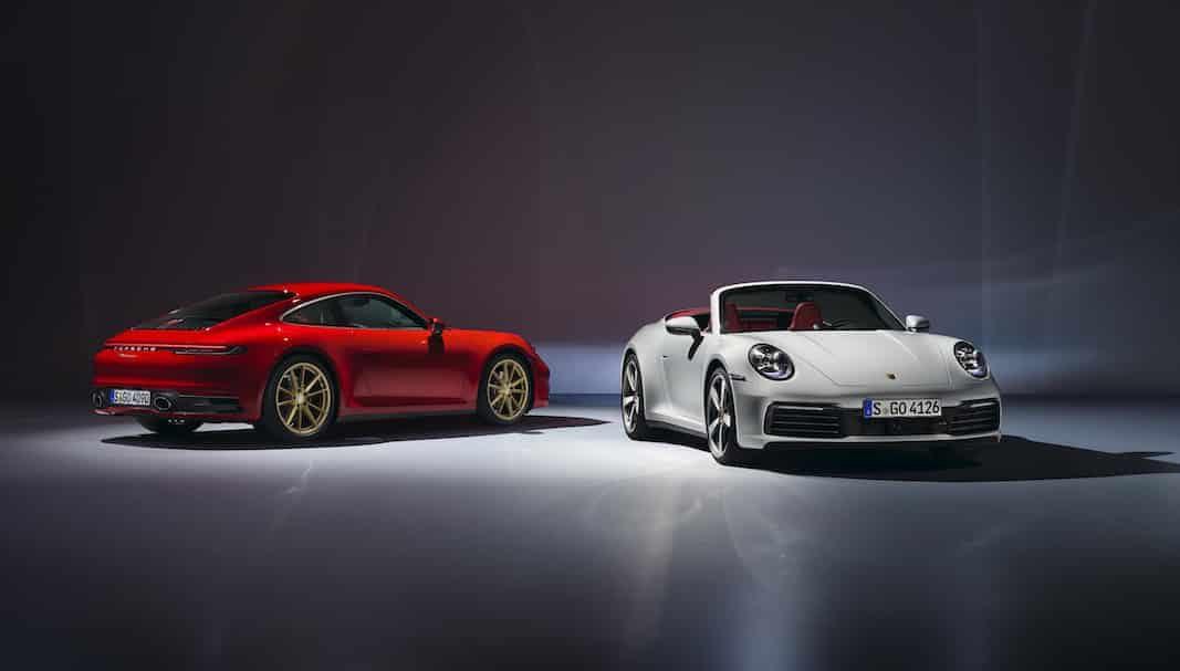 911 Carrera Coupé y el 911 Carrera Cabriolet, los accesos a la octava generación del Porsche 911