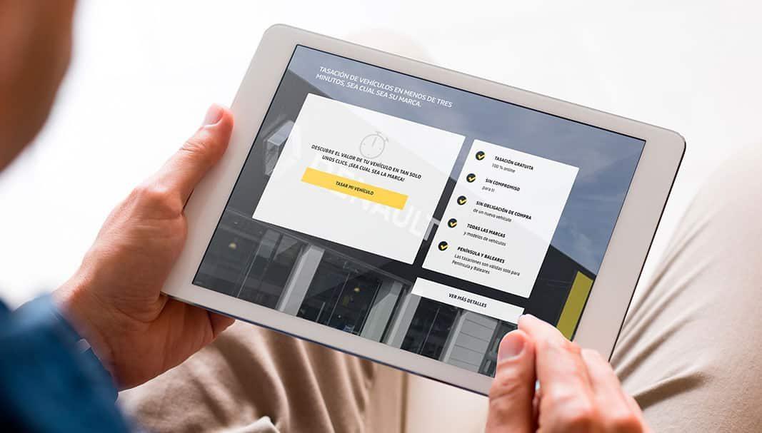 Renault lanza su tasador de vehículos de ocasión online