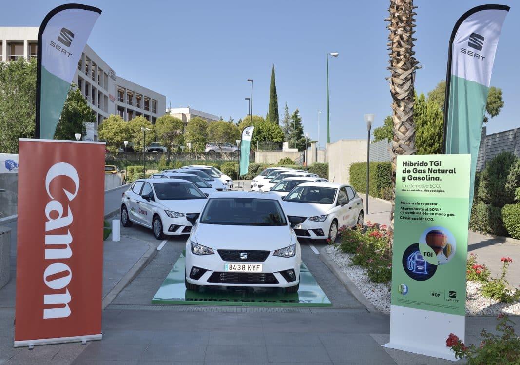 Seat entrega una flota de 40 Ibiza TGI de gas natural comprimido a Canon España.