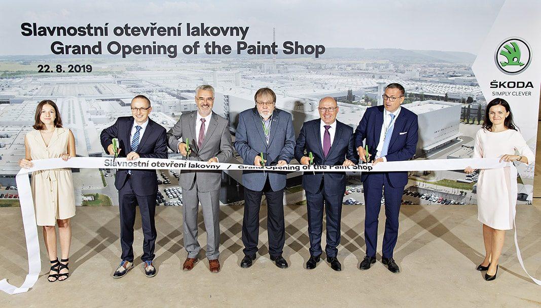 Skoda Auto estrena taller de pintura en la planta de Mladá Boleslav