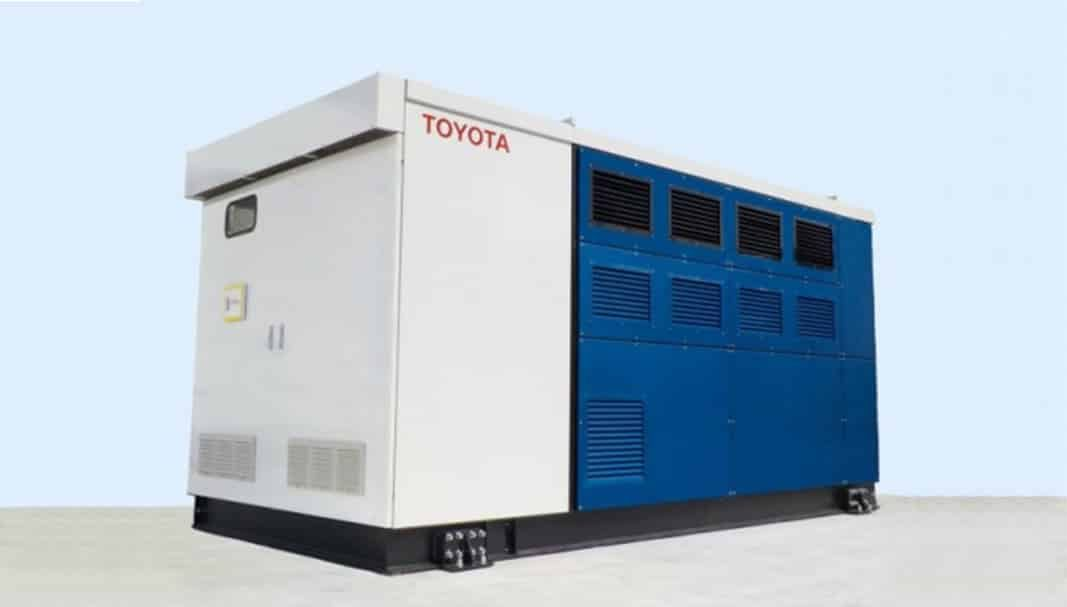 Toyota instala un generador de pila de combustible en Japón
