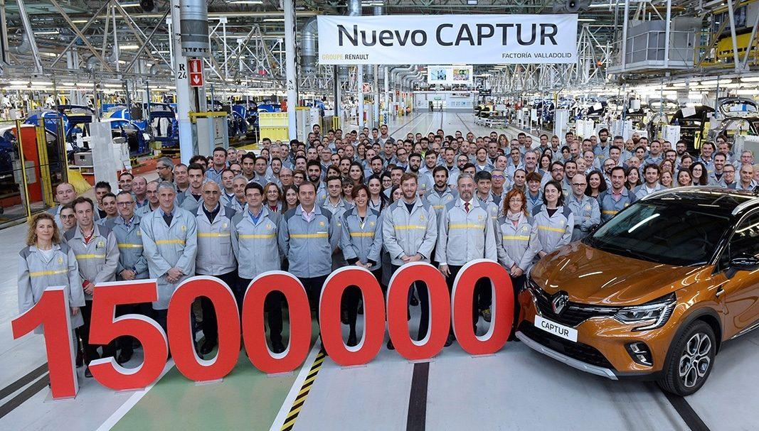 Renault fabrica 1,5 millones de Captur en la factoría de Valladolid