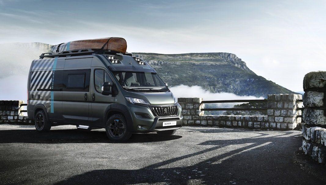 Peugeot propone una camper aventurera sobre el furgón Boxer 4×4
