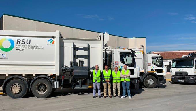 La Diputación de Málaga renueva la flota de recogida de residuos urbanos