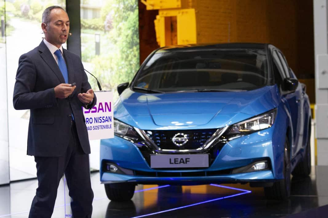 Marco Toro, consejero director general de Nissan Iberia, en el V Foro Nissan de Movilidad Sostenible. / FOTOGRAFÍA: NISSAN