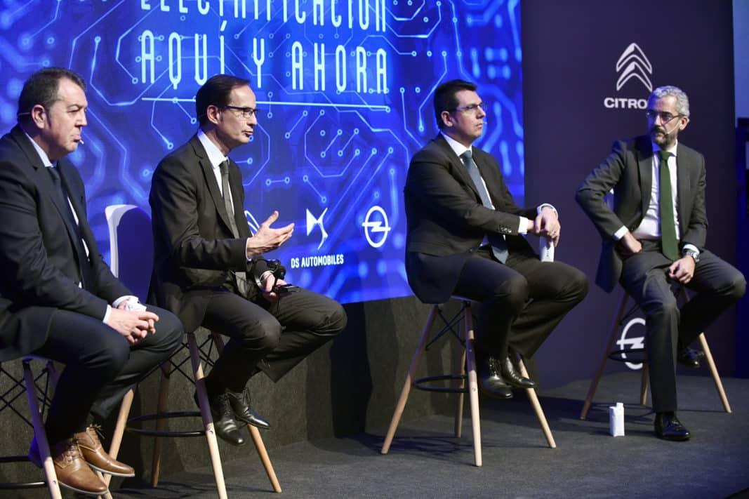 Un instante de la presentación de la estrategia de electrificación de PSA, en Madrid. // PSA