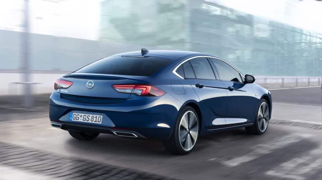 Trasera del nuevo Opel Insignia Grand Sport.