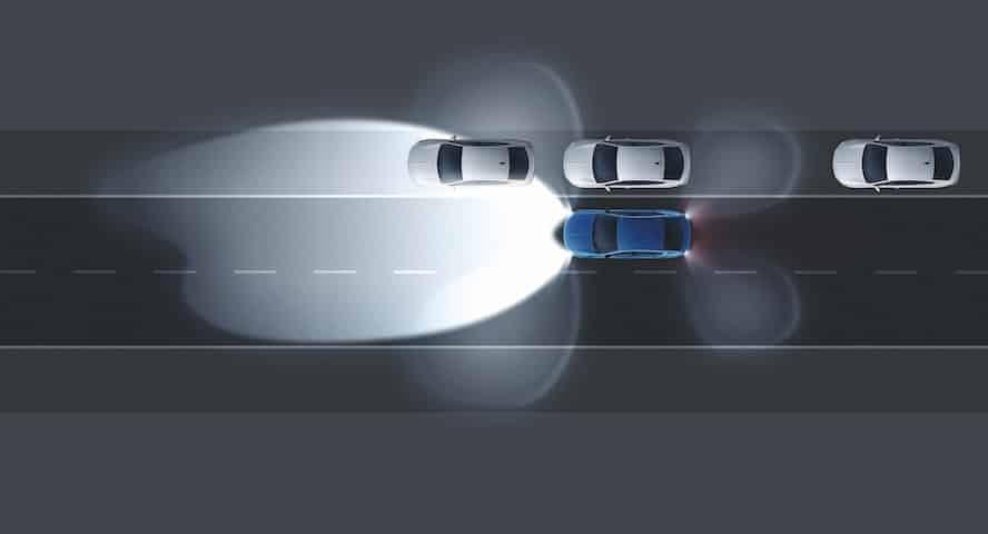 Este es el sistema Intellilux matricial de luces led del Opel Insignia.