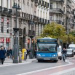 El Grupo Ruiz renovará 175 vehículos. En la imagen, un autobús en el centro de Madrid.