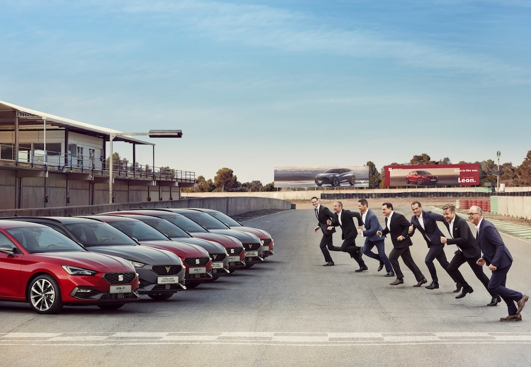 El equipo de Dirección del fabricante Seat, en una imagen tomada con motivo de los resultados de 2019, en marzo de 2020. Fotografía de Seat