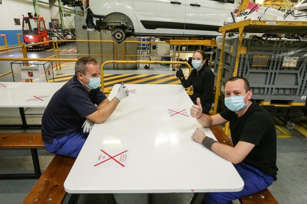 Ford reanuda su actividad en Valencia al 30% con fuertes medidas de seguridad