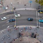 El renting ha cedido también mayo. En la image, tráfico en barcelona.