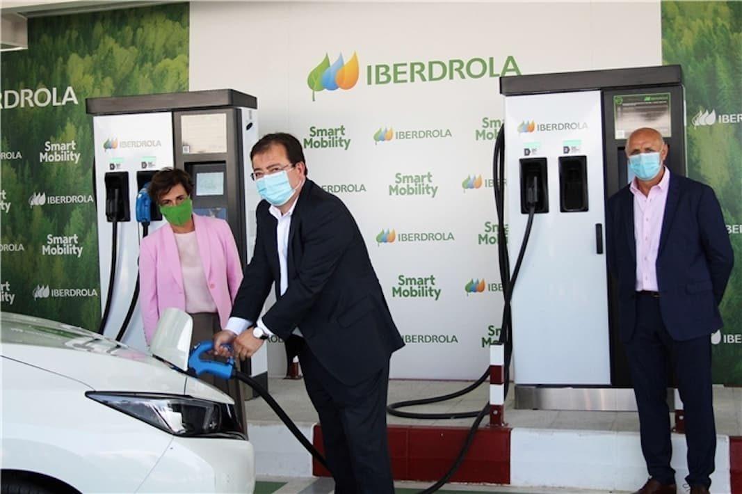 Iberdrola crea un corredor de carga rápida de eléctricos entre centro y sur