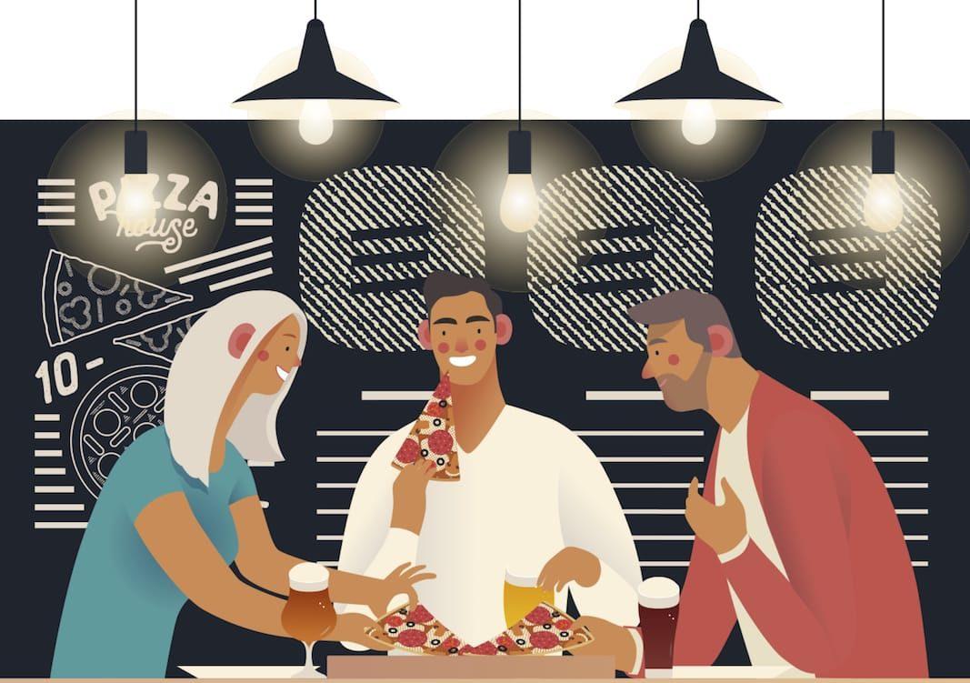 La política y los restaurantes