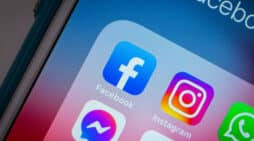 Kumamoto, JAPAN - Feb 15 2021 : Facebook app and its other brands (Instagram, Messenger, WhatsApp and Oculus VR) on iPhone. Facebook is considered as the one of the Big Five (Big Tech, GAFAM) in US